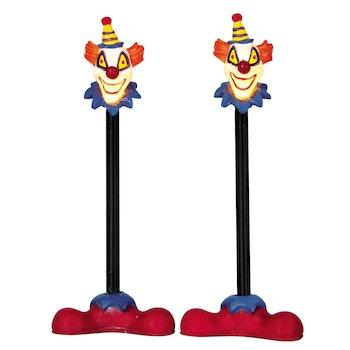 Killer Clown Lamp Post Set Of 2