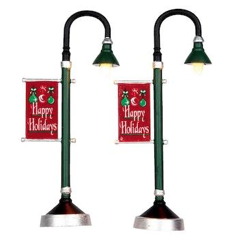 Municipal Street Lamps, Set Of 2