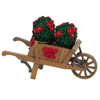 Wheelbarrow With Poinsettias