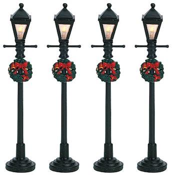 4 Gas Lantern Street Lamp, Set Of 4