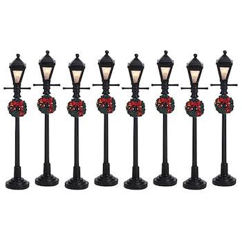 4 Gas Lantern Street Lamp, Set Of 8