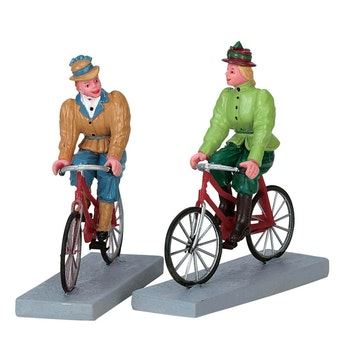 Bloomers And Bicycles, Set Of 2