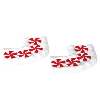 Candy Cane Lane, Curved, Set Of 2