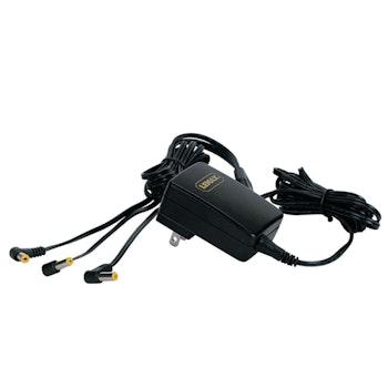 4.5V 3-Output Adapter Black Fixed EU Plug