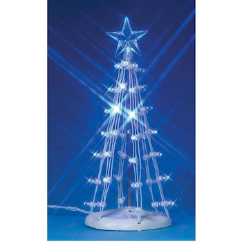 6 Lighted Silhouette Tree, Blue