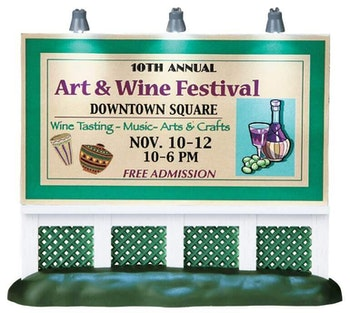 Art & Wine Festival Billboard