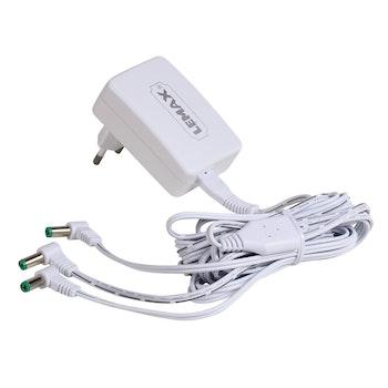 4.5V 3-Output Adapter White Fixed EU Plug V.2