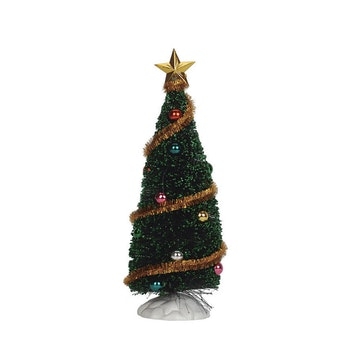 6 Sparkling Green Christmas Tree