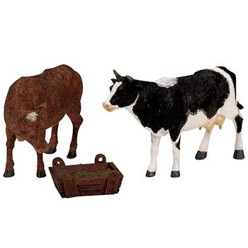 Feeding Cow & Bull, Set Of 3
