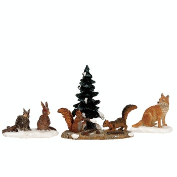 Woodland Animals, Set Of 4