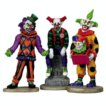 Evil Sinister Clowns, Set Of 3