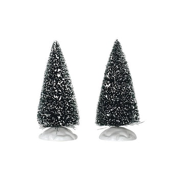 "4"" Bristle Tree, Set Of 2"