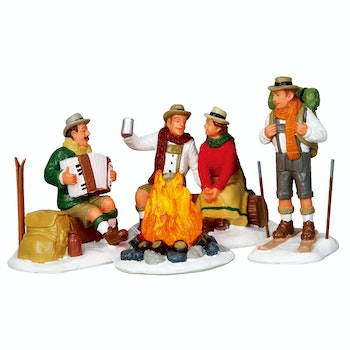 Alpine Ski Party, Set Of 4