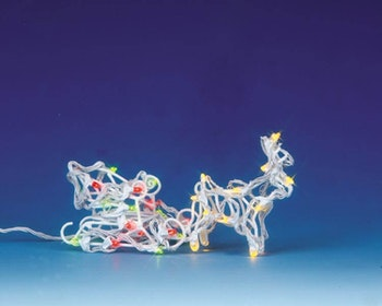 Lighted Sculpture - Reindeer & Sleigh