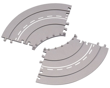 2-Piece Curved Road Extensions