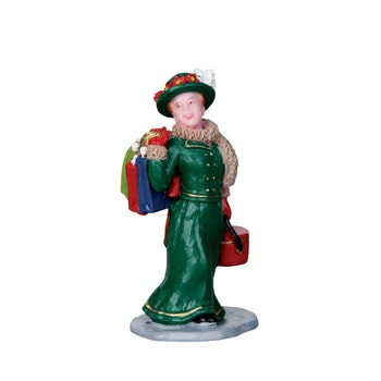 Vintage Jolly Holiday Shopper