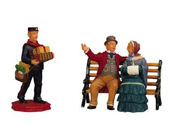 Park Bench Chat & Postman