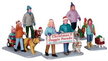 Christmas Doggie Parade, Set Of 5