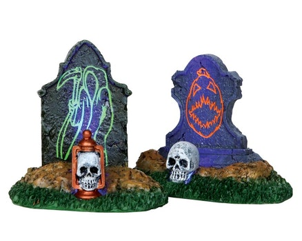 Backlit Tombstones