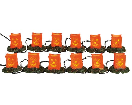 12 Lighted Pumpkin Luminary String