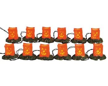 12 Lighted Pumpkin Luminary String