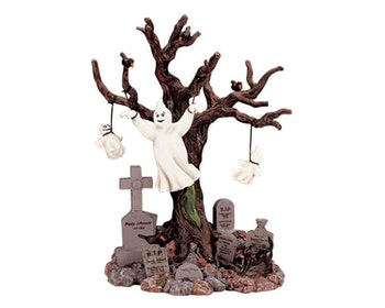 Lighted Tree Graveyard Ghost