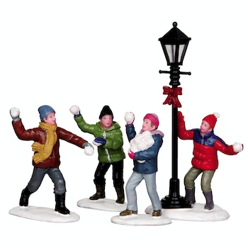 Snowball Fight, Set Of 4