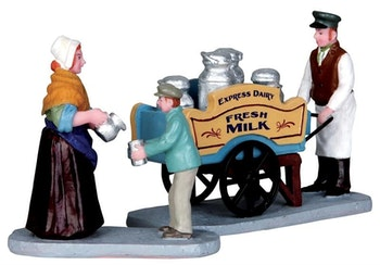Milk Vendor, Set Of 2