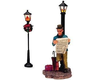 Biding Time Lamp Post