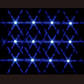 12 Lighted Star String - Blue