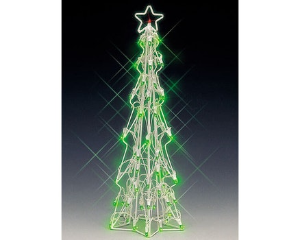 Lighted Sculpture -Slim Christmas Tree Large