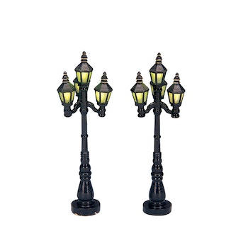 "4"" Old English Street Lamp, Set Of 2"