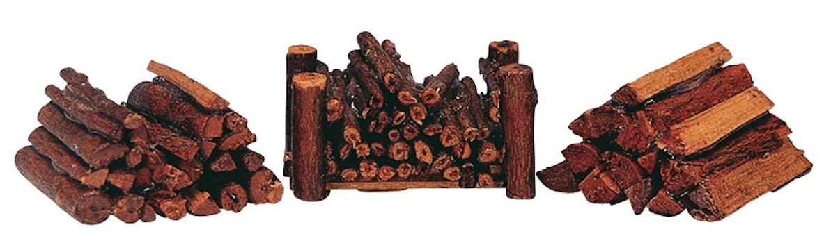 Stacked Firewood, Set Of 3