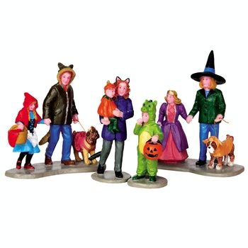 Trick Or Treating Fun, Set Of 4