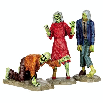 Walking Zombies, Set Of 3