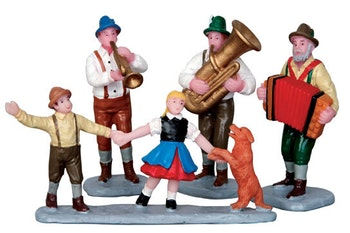 Alpine Musicians  Set Of 4