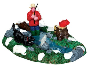 Stream Fishing  Set Of 3