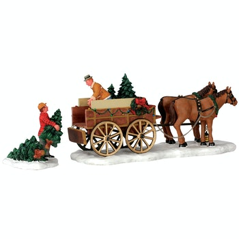 Christmas Tree Wagon, Set Of 2