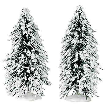 "4"" Needle Pine Tree, Set Of 2"