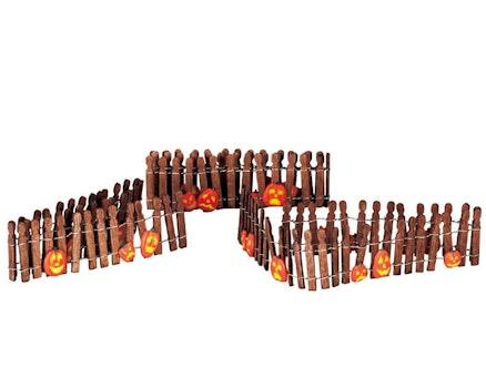 Pumpkin Wire Wooden Fence