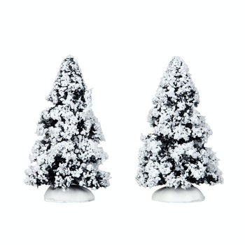 "4"" Evergreen Tree, Set Of 2"