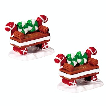 Peppermint Cookie Bench, Set Of 2