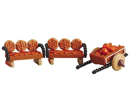 Pumpkin Wagon & Benches