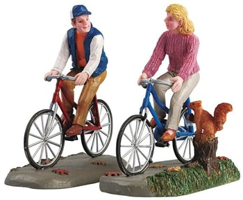 Romantic Bike Ride, Set Of 2