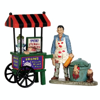 Zombie Brains Foodcart, Set Of 2