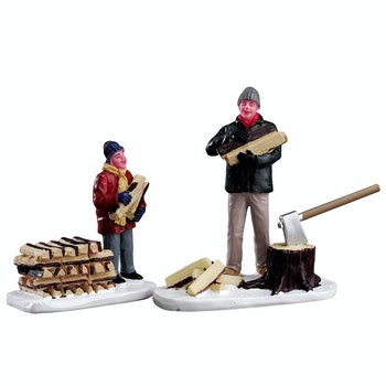 Stacking Firewood, Set Of 2