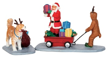 Playing Santa, Set Of 2