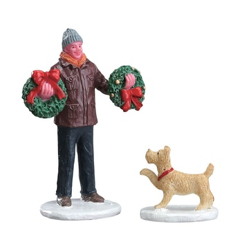 Tree Lot Figure, Set Of 2