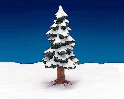 9 Porcelain Pine Tree