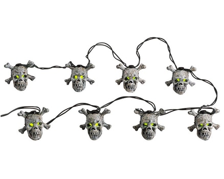8 Lighted Skull String